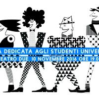 SERATA DEDICATA AGLI STUDENTI UNIVERSITARI – 10 NOVEMBRE 2016, ORE 19.00