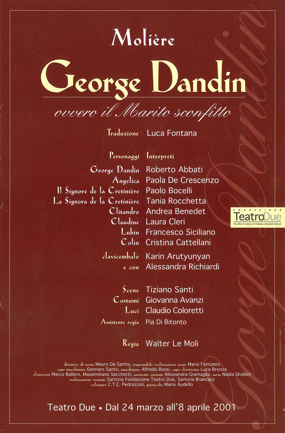 locandina george dandin le moli 2001