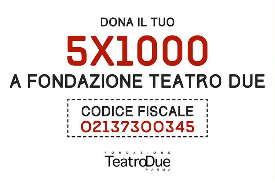 5x1000 a Fondazione Teatro Due