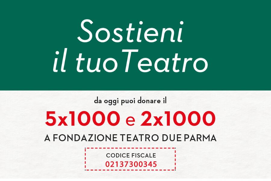 5x1000 - 2x1000 a Fondazione Teatro Due