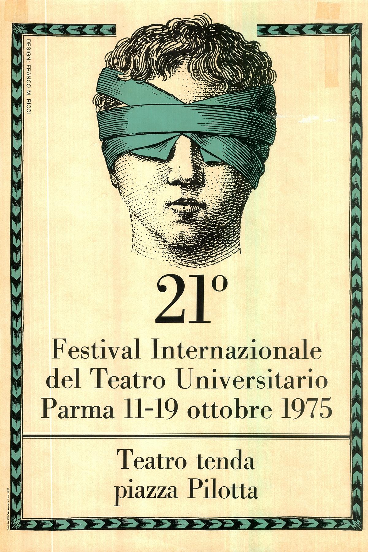 manifesto 21 festival teatro universitario franco maria ricci