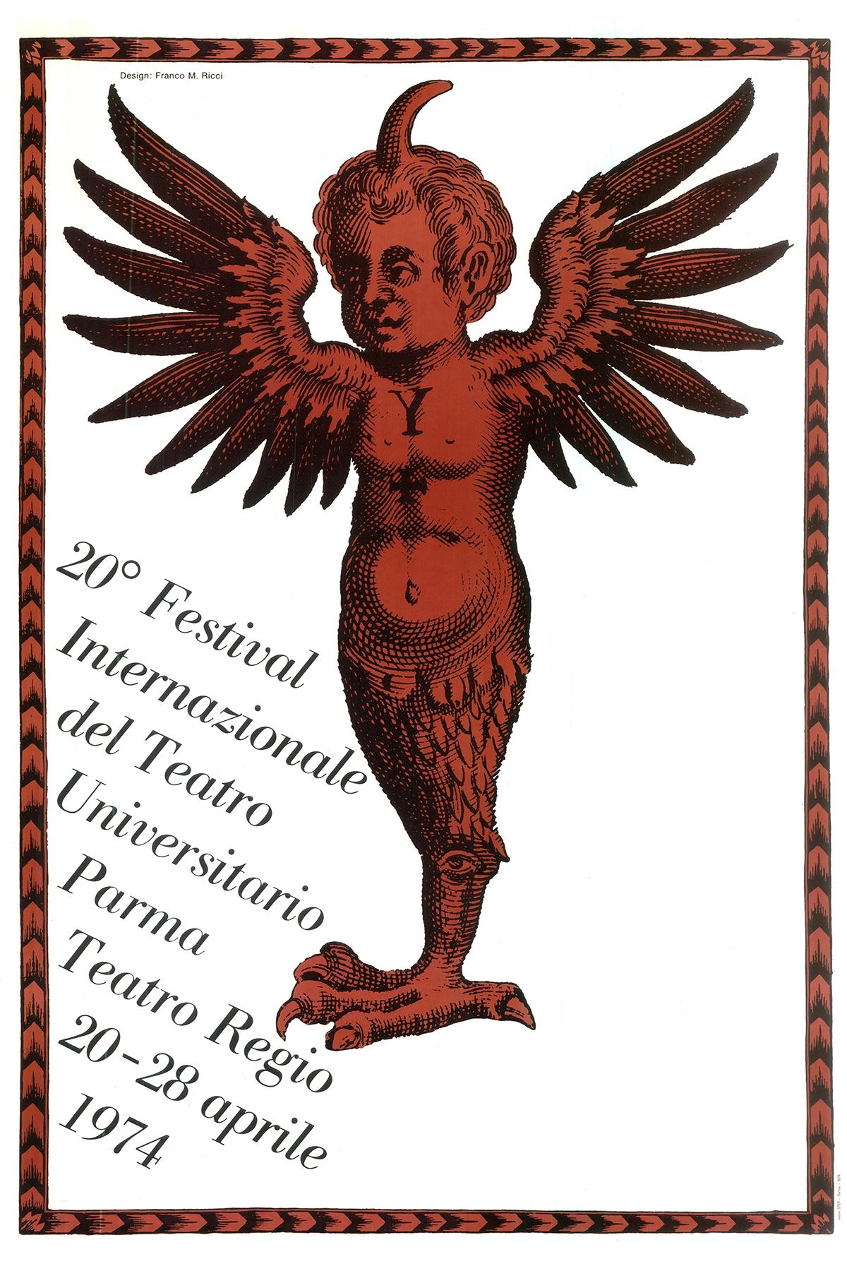 manifesto 20 festival teatro universitario franco maria ricci